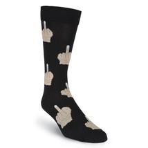 MEN'S Socks K Bell Middle Finger Crew New Black Shoe Size 6.5-12 FREE SH... - $11.49