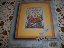 Bucilla Stamped Cross Stitch Kit 42459: Children Blossom - $10.00