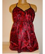 Cacique Lane Bryant red satin cami top cotton string bikini bottoms set-... - $18.52