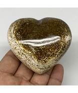 "205.1g, 2.5""x2.8""x1.4"" Ocean Jasper Heart Polished Healing Crystal, B4907 - $22.86"
