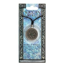 Pagan Wiccan NewAge •Seeker of Wisdom Wiccan Amulet Necklace- H13cmX W6c... - $16.27