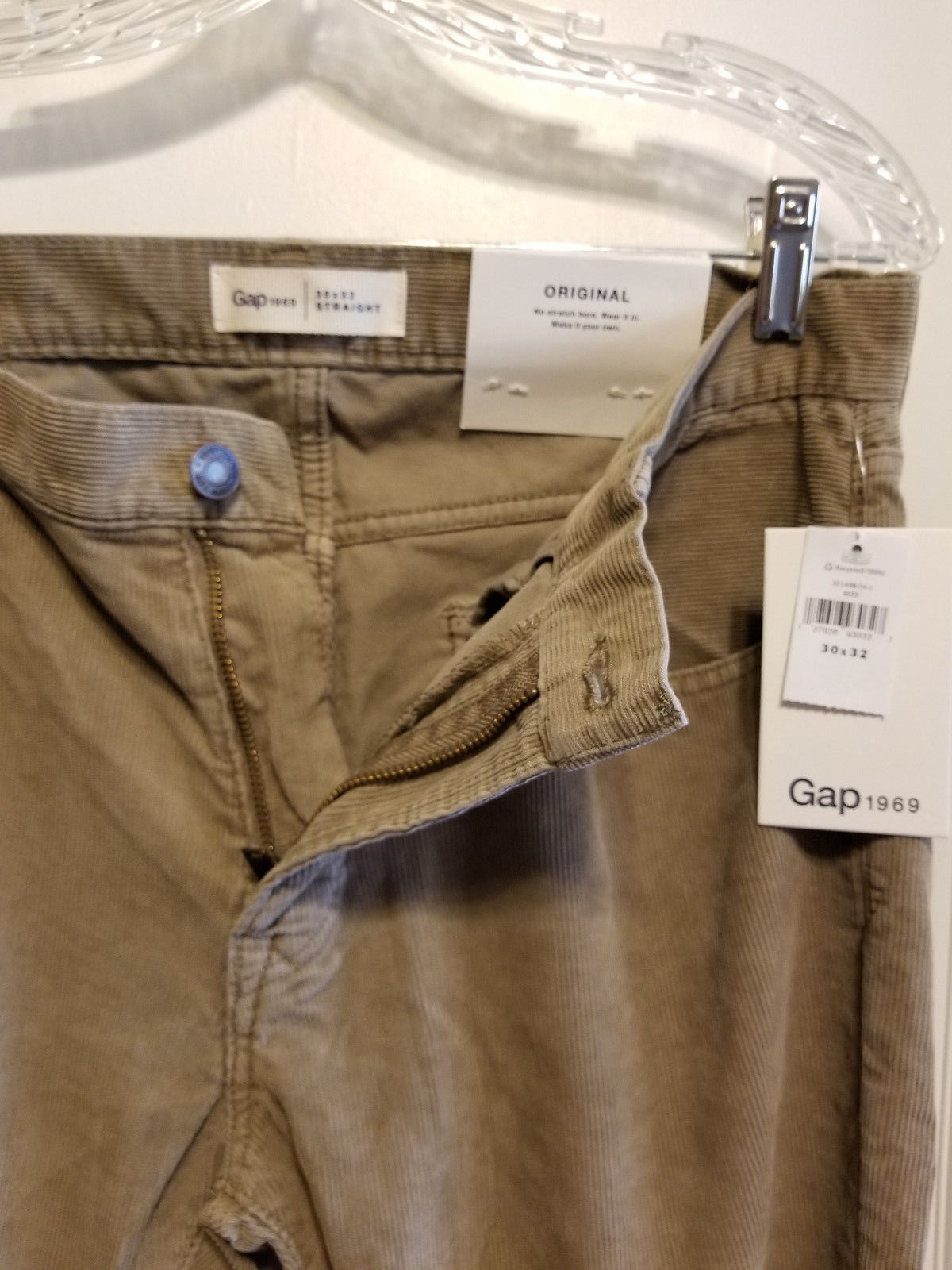 Gap Khakis Pants Gap Men's 38 X 30 Navy Blue 5-Pocket Nwt Slim Stretch