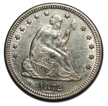1872 Seated Liberty Silver Quarter Coin 25¢ Lot# MZ 4593