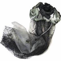 Gothic Bride Veil Flower Headband Halloween Costume Accessory - $16.82