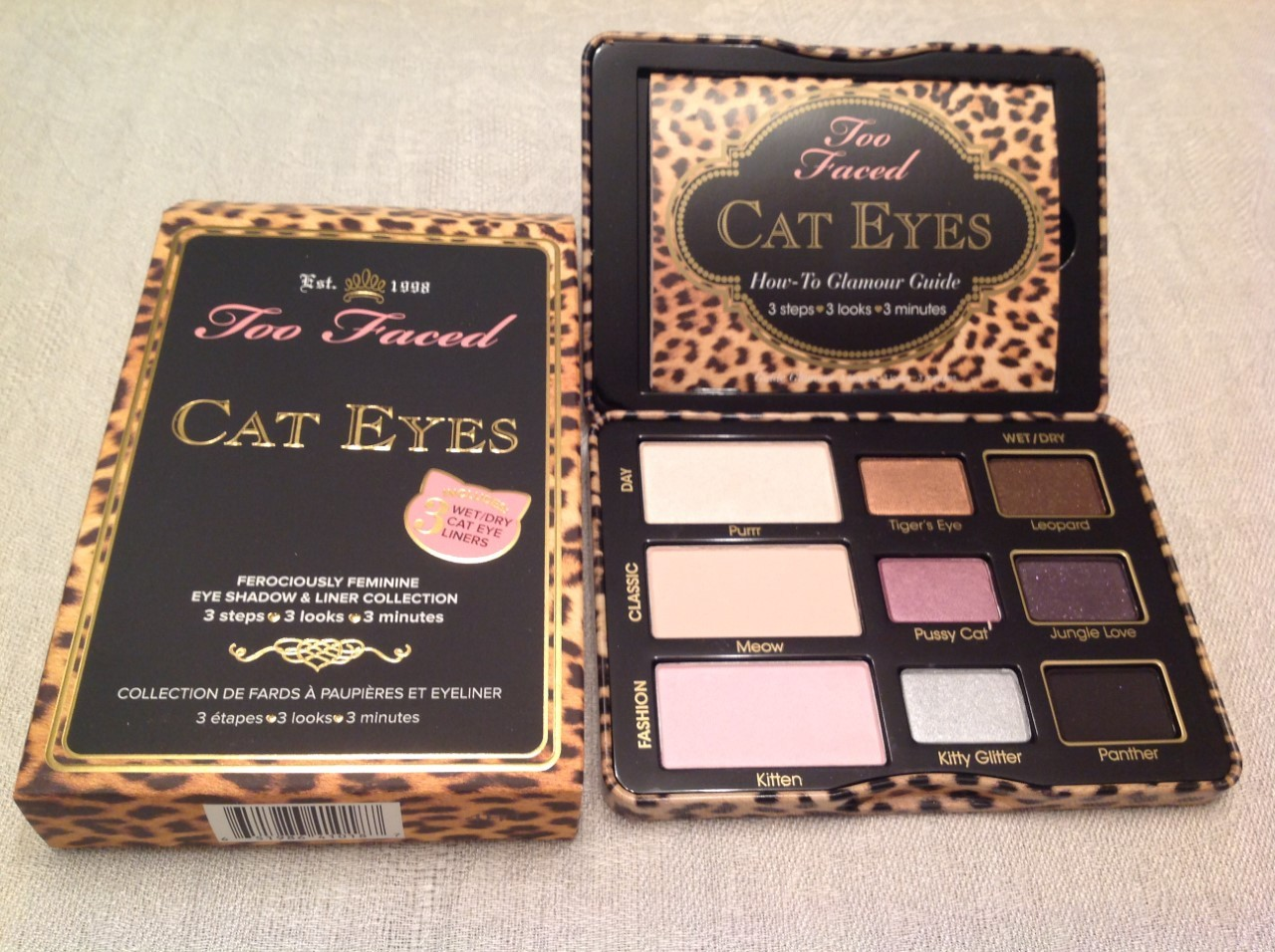 Primary image for 100% AUTHENTIC TOO FACED CAT EYE EYE SHADOW & LINER COLLECTION, FULL SIZE & NIB