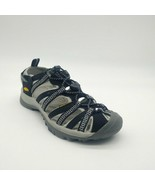 Keen Womans Whisper Strappy Bungee Tie Sandal Black & Grey Washable Sz 6... - $49.49