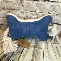 Levi's x Target Limited Edition Denim and Sherpa Large Dog Squeak Rope Toy - £7.97 GBP