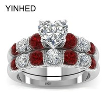 YINHED 2018 Wedding Rings Set for Lovers 925 Sterling Silver Engagement ... - $24.76