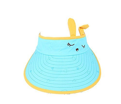 Children Sun Protection Hat Lovely Eyes Big Cap Without Top 2-4 Years(Blue)