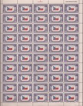 US Stamp - 1943 Overrun Country Czechoslovakia - 50 Stamp Sheet #910 - $9.99