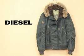 DIESEL N-2B fur burned flight jacket khaki Size: S - $286.11