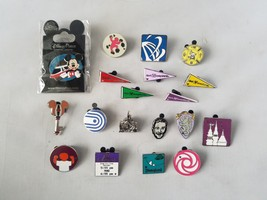 Disney Trading Pins Official Theme Parks Disney World Lot of 19 Collectible - $37.19