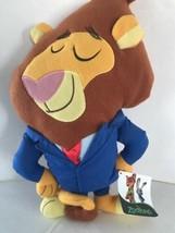 "DISNEY Zootopia Mayor Leodore Lionheart Soft Plush Toy 12""   NWT - $11.66"
