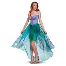Disguise Women's Ariel Deluxe Adult Costume, Purple, L (12-14) - £59.06 GBP
