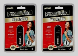 2~ SABRE PERSONAL SAFETY ALARM Self Defense Emergency Purse Key Ring LOU... - $22.79