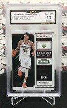 2018 PANINI CONTENDERS DRAFT GIANNIS ANTETOKUONMPO RED FOIL DRAFT TICKET... - $23.99