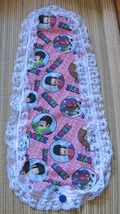 Violin/Fiddle Blanket/Cotton/Beatles/Retro/Lace Edging - $19.95
