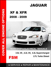 JAGUAR XF XFR 2008 2009 FACTORY OEM WORKSHOP SHOP FSM MANUAL ACCESS IT I... - $14.95