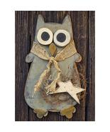 Primitive Style Owl w/ twigs Jute Wall Door Fall Autumn  - $46.99