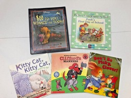 Lot of 5 Children's Books - 2 Hardcover - 3 Soft Cover - Pooh, Clifford ... - $8.32
