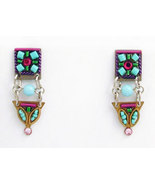 Signed ADAYA Maya Micro Mosaic Earrings - $35.00