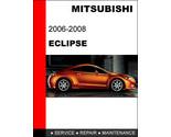 2008 mitsubishi eclipse repair manual