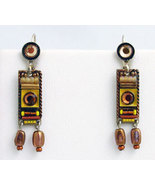 Signed ADAYA Maya Micro Mosaic Earrings - $44.00