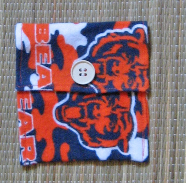 Violin/Viola Rosin Pouch/Flannel/FiddleBelle Brand/Chicago Bears/NFL