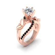 Lab Created VVS-VS Clarity 1.30ct Moissanite Butterfly Art Nouveau Promise Ring - $1,509.99