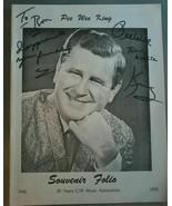 PEE WEE KING~ Souvenir Folio Signed~ 30 Years C/W Music Association 1940... - $8.90