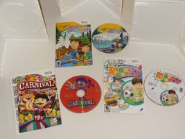 Wii Lot - Carnival Games 30 Great Games Family Party Crayola Colorful Journey image 5