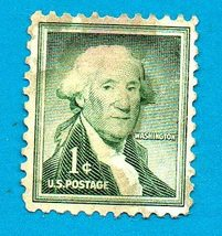Scott  #1031 Used US Postage Stamp (1953) 1c George Washington  - $1.99