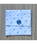 Violin/Viola Rosin Pouch/Flannel/FiddleBelle Brand/Blue Floral/HM - $4.95