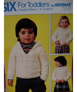 Sweaters Pullover Cardigan Crochet Pattern Toddlers - $4.99