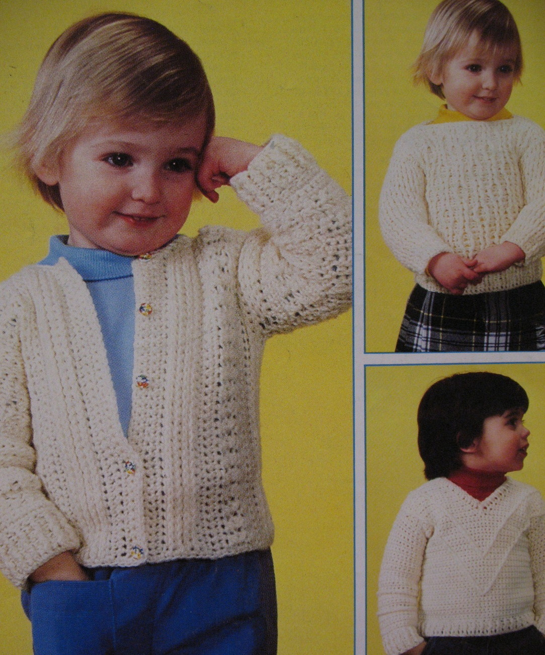 Sweaters Pullover Cardigan Crochet Pattern Toddlers