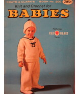 Sailor Outfit Dress Knitting Crochet Pattern Booklet Babies - $5.99