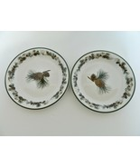 Bass Pro Shops Woodland Sheds Salad Plates Discontinued Pine Cones Antle... - $19.68