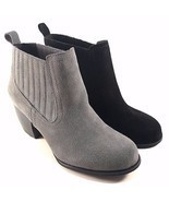 Restricted Warwick Suede Leather Thick Heel Pull On Ankle Bootie Choose ... - $69.00