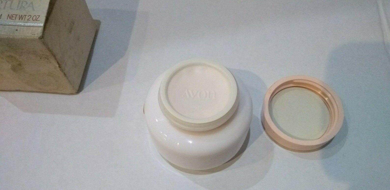 Vintage Avon Nurtura Replenishing Face Cream Milk Glass Jar 2 oz. New Old Stock