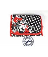 Harley Quinn Cosmetic Bag Travel Case Makeup Red Black Joker Batman Vill... - $15.83