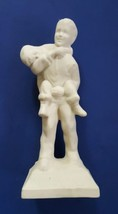 Vintage Boy's Town Bisque Statue He Ain't Heavy Father He's M'Brother - $19.79