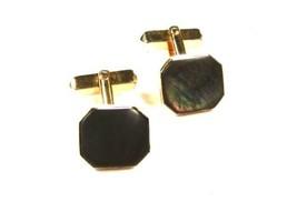 597ms - 21.3ms Goldfarbig & Abalone-Muschel Manschettenknöpfe von Swank ... - $47.50
