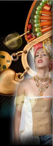 Signed ADAYA Maya Micro Mosaic Earrings