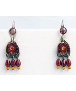 Signed ADAYA Maya Micro Mosaic Earrings - $37.00