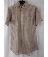 Levi's Western Plaid Check Shirt Button Up Short Sleeves Men's Small - $9.00