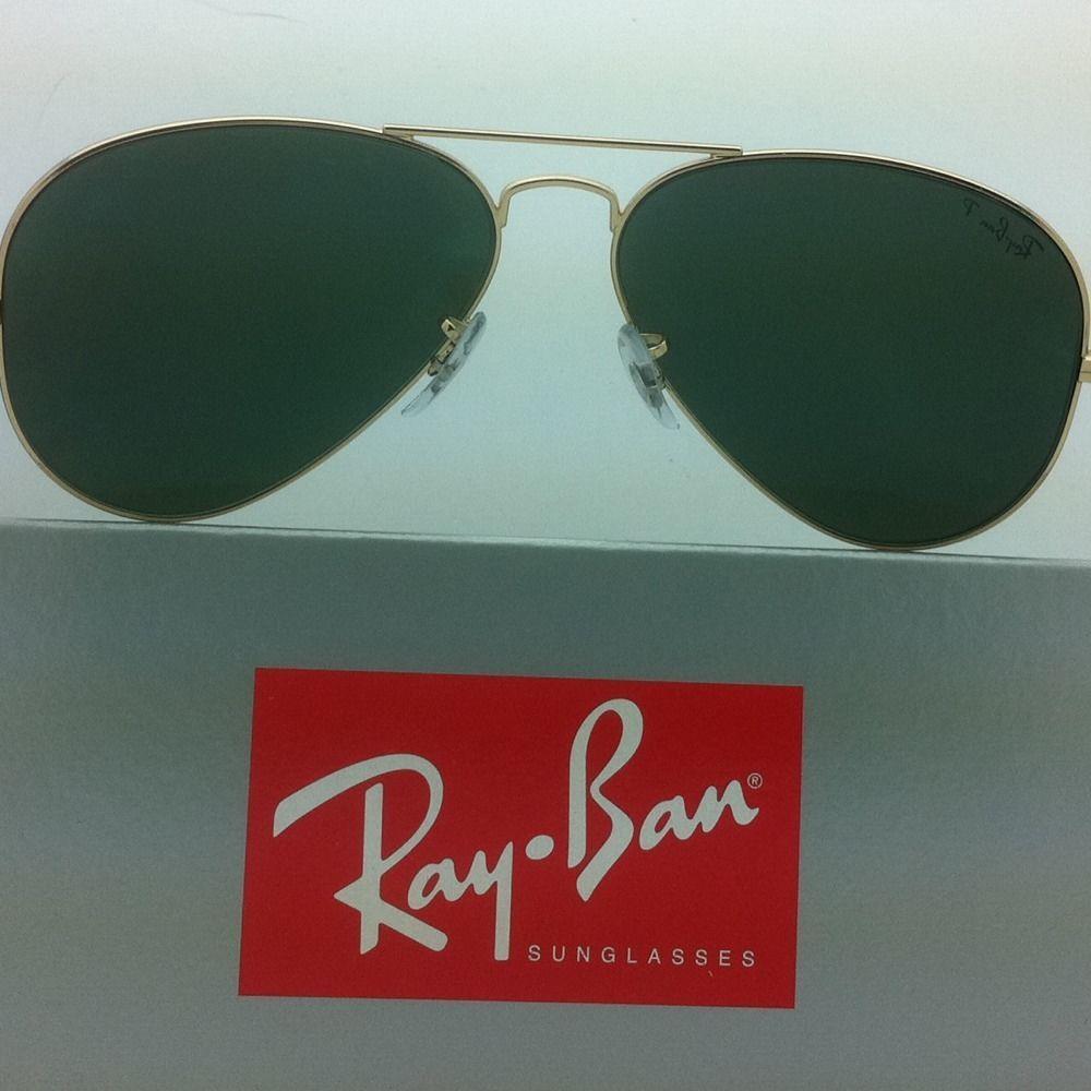 3d6de5c825 Polarized RAY-BAN Sunglasses LARGE METAL RB 3025 001 58 55-14 Gold