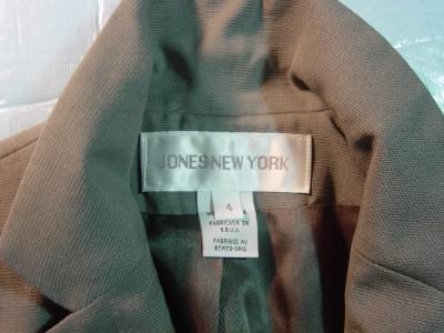 WOMEN JONES NEW YORK DARK GREY CAREER JACKET SIZE 4