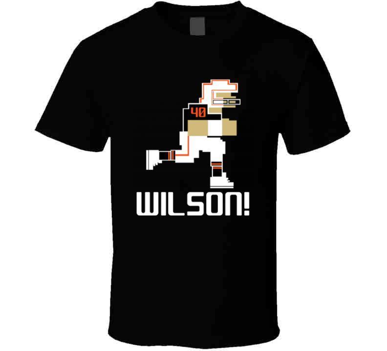 Brandon Wilson # 40 Tecmo Bowl Cincinnati Football Athlete Fan T Shirt
