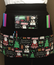 6 Pocket Waist Apron / Holiday / Ho Ho Ho Apron - $19.95