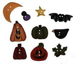 BUTTON PACK JABC 8641 Scatter Pumpkins cross stitch chart Just Another Button Co - $15.50